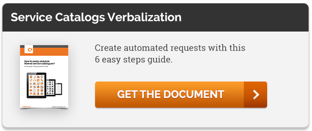 Service Catalogs Verbalization