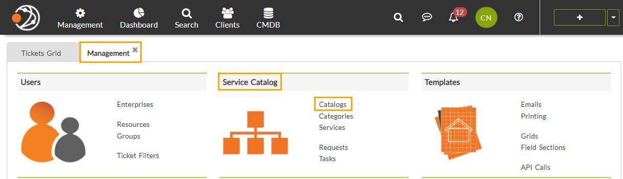 C2 ATOM Service catalog
