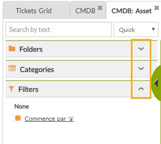 CMDB filters