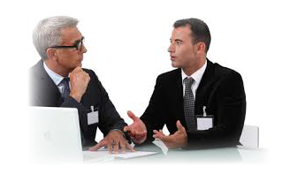 discussion between an administrator and IT